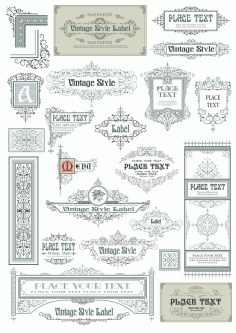 Vintage Style Borderline Vector CDR File