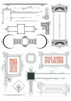 Vintage Vector Decorative Elements Free CDR Vectors File
