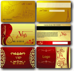 Vip Members Cards Free CDR Vectors File