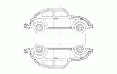 Vw 5 Car DXF File