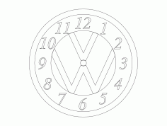 VW Clock Free Dxf File For Cnc DXF Vectors File