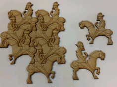 Wall Art Puzzle Man on Horse Laser Cut DXF File