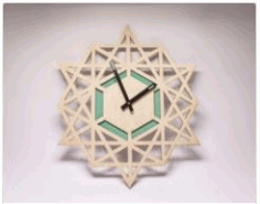 wall Clock Laser Cut Frame CDR Vectors File