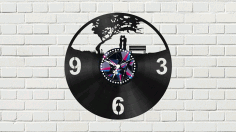 Wall Clock with Couple Free CDR Vectors File
