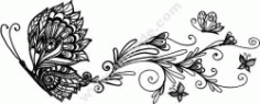 Wall Decor Floral Butterfly CDR File