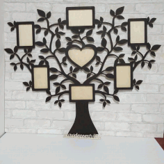 Wall Hanging Photo Frame CNC Laser Cutting Free CDR Vectors File