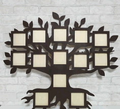 Wall Hanging Tree Photo Frame CNC Laser Cutting Free CDR Vectors File