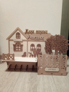 Wall Keys Hanger with Tree Laser Cutting Plans CNC Free CDR File