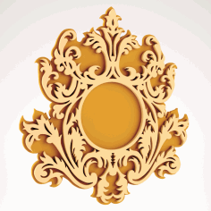 Wall Mirror Frame Design Free DXF Vectors File