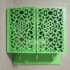 Wall Mounted Key Cabinet Laser Cut DXF File