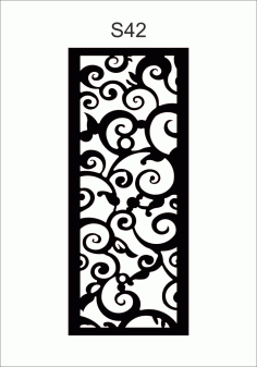 Wall Separator s42 Free DXF Vectors File
