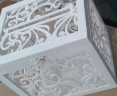 Wedding Box for Money Laser Cut CDR File