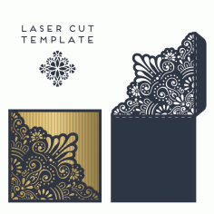 Wedding Invitation Card Template Laser Cut CDR File