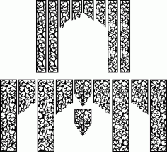 Wedding Screen Patterns Free CDR Vectors File