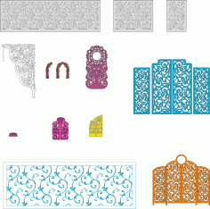 Wedding Screens Vectors Pack Free CDR Vectors File