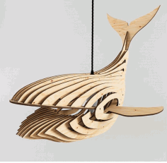 Whale Lamp 4mm new Laser Cut DXF File