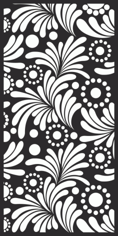 White Floral Fabric Pattern Free Vector CDR File