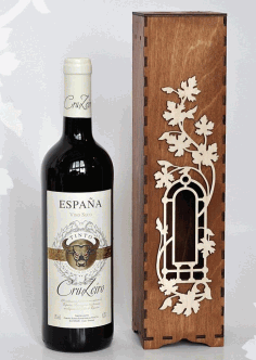 Wine Bottle Packaging Gift Boxes Laser Cut CDR File