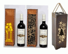 Wine Gift Box Laser Cut CDR File
