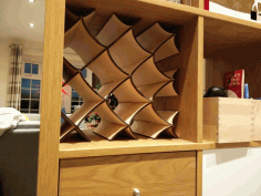 Wine Rack for Ikea Kallax DXF File