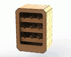 Wine Rack Rectangular 6mm DXF File