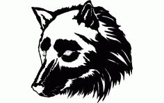 Wolf Face Design 2 Free DXF Vectors File