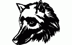 Wolf Head Free DXF Vectors File