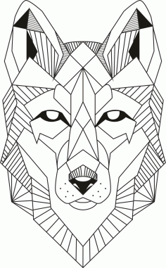 Wolf Lineart Free CDR Vectors File