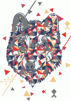 Wolf T-Shirt Design Laser Cutting Design CDR File