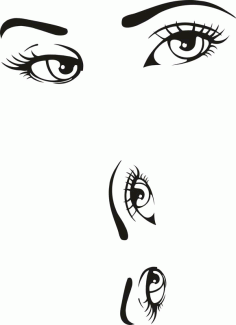 Woman Eyes Collection Vector Laser Cut CDR File