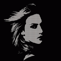 Woman Face Vector Illustration CDR File