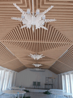 Wood Chandelier Laser Cut CDR File