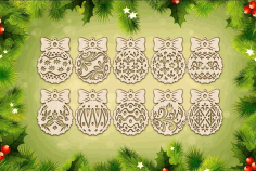 Wood Christmas Ornaments And Decorations Laser Cut CDR File