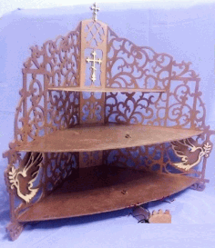 Wood Iconostasis Wooden Shelf Template Laser Cut CDR File