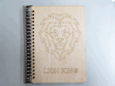 Wood Notebook Cover Laser Cut Design DXF File
