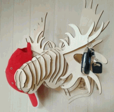 Wooden Animal Wall Key Hanger Laser Cut CDR File