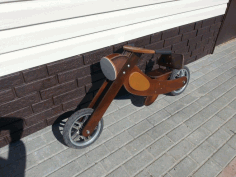 Wooden Bike Free DXF File