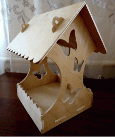 Wooden Bird House DXF Vectors File