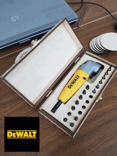 Wooden Box For DEWALT Right Angle Attachment CDR File CDR File