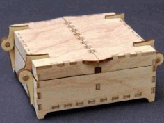 Wooden Box for Laser Cut CNC DXF File