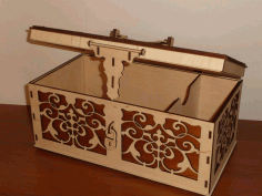 Wooden Box with Lid and Lock Laser Cut CDR File