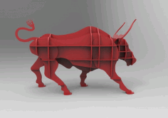 Wooden Bull Storage Rack Laser Cut DXF File