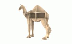 Wooden Camel Shelf Modern Storage Shelf Template Laser Cut CDR File