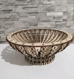 Wooden Candy Bowl Basket Wooden Flower Basket Laser Cut CDR File