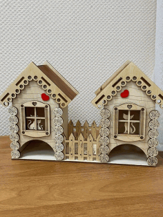 Wooden Cat House CNC Cutting CDR File