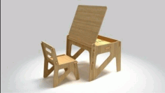 Wooden chair andTable for kids CNC File Free CDR File