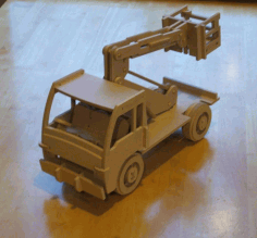 Wooden Cherry Picker Truck Kids Toy Truck Laser Cut DXF File