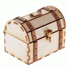 Wooden Chest With Lock And Hook Template Laser Cut CDR File