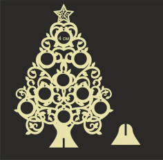 Wooden Christmas Tree Laser Cut CNC Template Free Vector CDR File