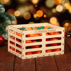 Wooden Crate Gift Box Basket Laser Cut CDR File
